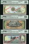El Banco Central de Reserva de El Salvador, specimen 5 and 100 (2) colones, 1977-1980, (Pick 132As,