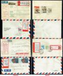 China - 1969 lot of 3 airmail covers to England, Sweden and Belgium respectively mixed franking with
