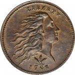 1793 Flowing Hair Cent. Wreath Reverse. S-8. Rarity-3. Vine and Bars Edge. MS-63 BN (PCGS). CAC.