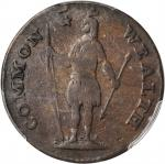 1788 Massachusetts Cent. Ryder 15-M, W-6400. Rarity-5. Period After MASSACHUSETTS. Fine-12 (PCGS).