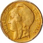 CHILE. 5 Pesos, 1895-So. Santiago Mint. PCGS AU-58 Gold Shield.