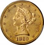 1889-S Liberty Head Eagle. MS-63 (PCGS).