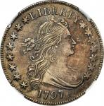 1797 Draped Bust Half Dollar. O-101a, T-1. Rarity-4+. AU Details--Improperly Cleaned (NGC).