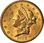1858-S Liberty Head Double Eagle. MS-61 (PCGS).