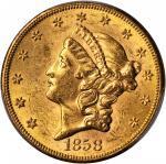 1858-S Liberty Head Double Eagle. MS-61 (PCGS).