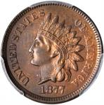 1877 Indian Cent. MS-63 BN (PCGS).