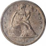 1846-O Liberty Seated Silver Dollar. OC-1, the only known dies. Rarity-2. MS-61 (PCGS).