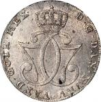 NORWAY. Speciedaler, 1777-HIAB. Christian VII (1766-1808). NGC MS-62.