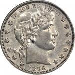 1896-O Barber Half Dollar. AU-58 (NGC).