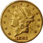 1882-CC Liberty Head Double Eagle. AU-53 (PCGS).