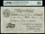 Bank of England, John Nairne (1902-1918), 5, London, 24 July 1909, serial number C/42 54651, black a