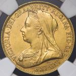 GREAT BRITAIN Victoria ヴィクトリア(1837~1901) 2Pounds 1893 NGC-MS61 AU
