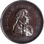 1796 REPUB. AMERI Medal. Bronze. 33 mm. Baker-68, Musante GW-61. Rarity-5. Plain Edge. MS-63 BN (PCG