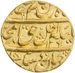AWADH: Amjad Ali Shah, 1842-1847, AV ashrafi 4011。72g41, Lucknow, AH1261 year 4, KM-342, parasol abo