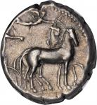 SICILY. Syracuse. Second Democracy, 466-406 B.C. AR Tetradrachm (17.23 gms), ca. 430-420 B.C. NGC EF