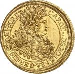 TRANSYLVANIE Charles VI (1711-1740). 10 ducats 1713, Karlsbourg (Alba Iulia).