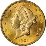 1904 Liberty Head Double Eagle. MS-63 (PCGS).