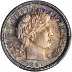 1897-S Barber Dime. MS-66 (PCGS).