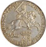 1787年荷兰乌德勒支Ducaton世界贸易银币。NETHERLANDS. Utrecht. Ducaton, 1787. PCGS MS-62 Gold Shield.