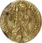 GERMANY. Hessen-Cassel. Goldgulden, 1506. Wilhelm II. NGC VF Details--Holed.