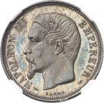FRANCE Second Empire / Napoléon III (1852-1870). 1 franc tête nue, Flan bruni (PROOF) 1853, A, Paris