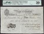 Bank of England, Thomas Rippon (1829-1835), £5, London, 28 November 1835, serial number 38977, black