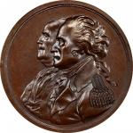 Circa 1807 American Beaver medal. Musante GW-93, Baker-54A, Julian CM-4. Copper, Bronzed. SP-63 (PCG