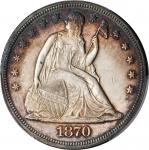 1870 Liberty Seated Silver Dollar. OC-3. Rarity-2. Doubled Die Reverse. MS-61 (PCGS).