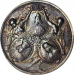 ITALY. Venice. Doge Francesco Morosinis Victory Over the Turks Silver Medal, 1687. PCGS AU-55 Gold S