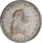 1795 Flowing Hair Half Dollar. O-124, T-12. Rarity-5. Two Leaves. VF-25 (PCGS).