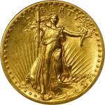 MCMVII (1907) Saint-Gaudens Double Eagle. High Relief. Flat Rim. AU-55 (PCGS).
