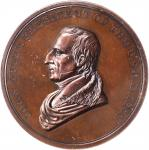 1841 John Tyler Indian Peace Medal. Small Size. Bronze. 51 mm. Julian IP-23. First Reverse. MS-62 BN