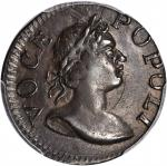 1760 Voce Populi Farthing. Nelson-1, W-13800. Rarity-5. Large Letters. MS-62 BN (PCGS). CAC.
