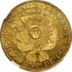 PERU. South Peru. 8 Escudos, 1838-MS. Cuzco Mint. NGC MS-63.