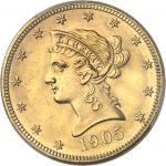 USA République fédérale des États-Unis d'Amérique (1776-à nos jours). 10 dollars Liberty 1905, S, Sa