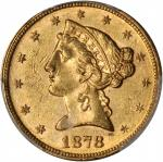 1878 Liberty Head Half Eagle. MS-61 (PCGS).
