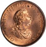 GREAT BRITAIN. 1/2 Penny, 1799. George III (1760-1820). NGC MS-64 RD.