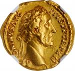 ANTONINUS PIUS, A.D. 138-161. AV Aureus (7.35 gms), Rome Mint, A.D. 148-149. NGC EF, Strike: 5/5 Sur