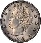1912-S Liberty Nickel. MS-66 (PCGS).