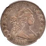 1801 Draped Bust Half Dollar. NGC AU53