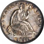 1844 Liberty Seated Half Dollar. WB-13. Rarity-3. MS-63 (NGC).