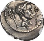 JULIUS CAESAR. AR Denarius (4.05 gms), Rome Mint, ca. 42 B.C.
