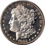 1883 Morgan Silver Dollar. Proof-63 (PCGS).
