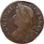 1787 Connecticut Copper. Miller 16.4-n, W-3020. Rarity-6+. Draped Bust Left. VF-20 (PCGS).
