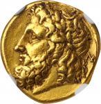 公元前276-272年意大利卡拉布里亚塔伦图姆金币 NGC Ancients XF ITALY. Calabria. Tarentum
