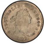 1798/7 Draped Bust Dime. John Reich-1. Rarity-3. 16 Star Reverse. Mint State-65 (PCGS).PCGS Populati