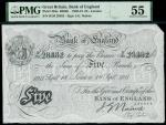 Bank of England, John Nairne (1902-1918), 5, London, 18 September 1911, serial number H/26 28382, bl