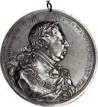 1814 George III Indian Peace Medal. Silver. Large Size. Adams 12.1. (Obverse 1, Reverse A). Extremel