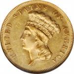 1883 Three-Dollar Gold Piece. MS-61 (NGC).