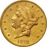1878-CC Liberty Head Double Eagle. AU-50 (NGC).
